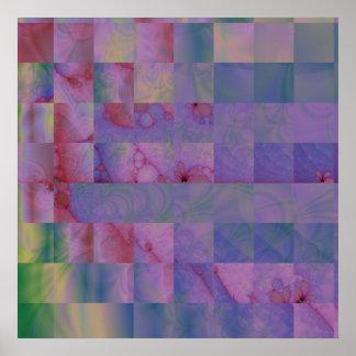 Impresión de la lona del edredón 3 del fractal poster