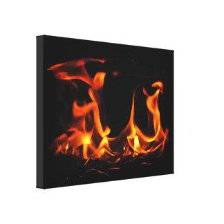 Impresión de la lona del fuego del baile lona estirada galerías