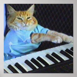¡Impresión de la lona del gato del teclado! Póster
