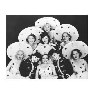 Impresión de la lona del grupo de los chicas de es impresión en lona estirada