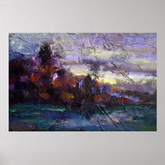 Impresión de la lona del horizonte de Bronte Poster