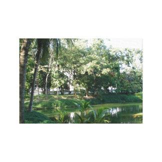 Impresión de la lona del jardín de la meditación impresiones en lona
