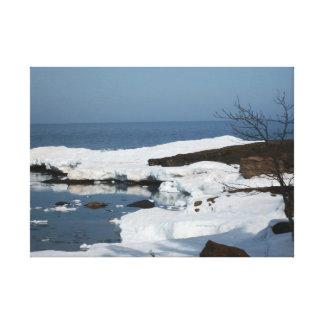 Impresión de la lona del lago Superior del deshiel Impresiones En Lona Estiradas