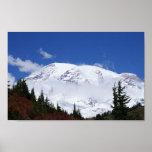 Impresión de la lona del Monte Rainier Poster