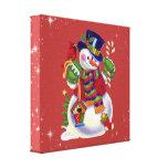 Impresión de la lona del muñeco de nieve del navid impresión en lona