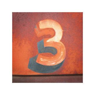Impresión de la lona del número 3 impresiones en lona
