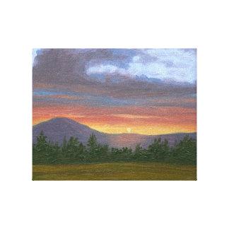 Impresión de la lona del paisaje de la puesta del  lona estirada galerías