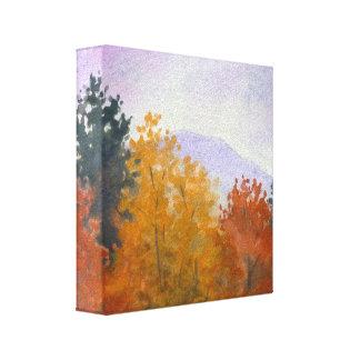 Impresión de la lona del paisaje del follaje de ot lienzo envuelto para galerias