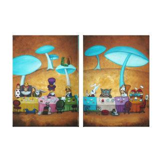 Impresión de la lona del panel de la fiesta del té impresión en lienzo estirada