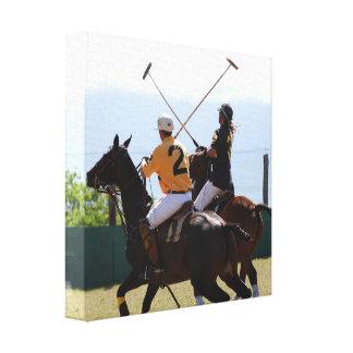 Impresión de la lona del partido del caballo del p impresion de lienzo