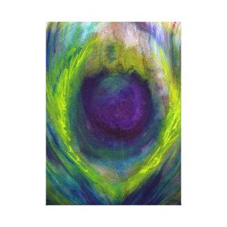 Impresión de la lona del pavo real impresion de lienzo