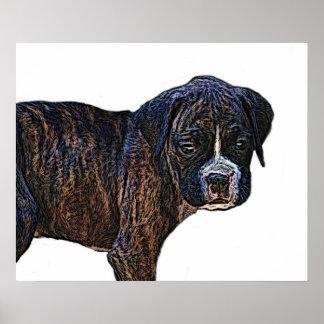 Impresión de la lona del perrito del boxeador impresiones