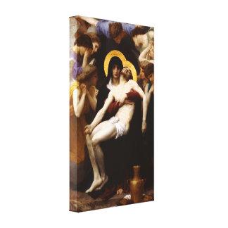 Impresión de la lona del Pieta de Bouguereau Impresiones En Lona Estiradas