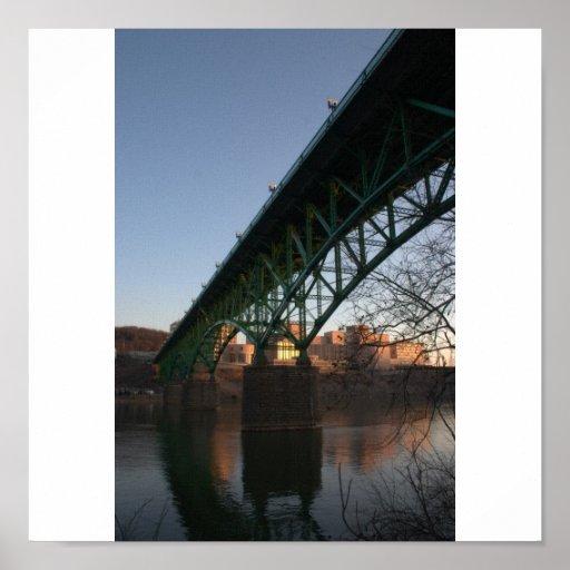 Impresión de la lona del puente de Knoxville Posters