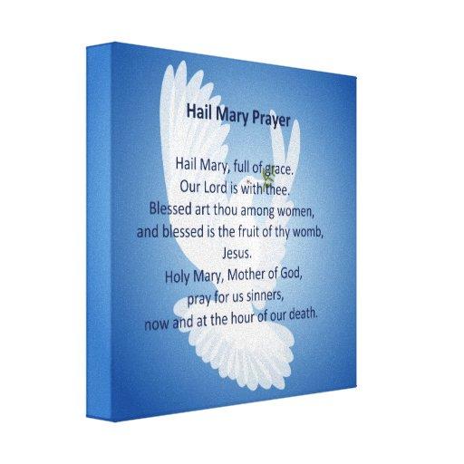Impresión de la lona del rezo de Maria del saludo Lona Envuelta Para Galerias