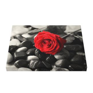 Impresión de la lona del rosa rojo impresiones en lienzo estiradas