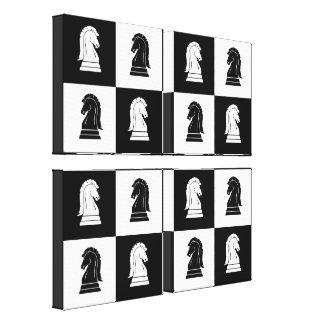 Impresión de la lona del tablero de ajedrez del ca impresion de lienzo