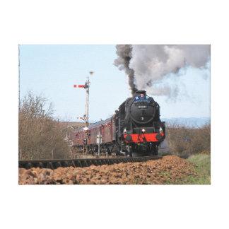 Impresión de la lona del tren del vapor de Gran Lona Envuelta Para Galerías
