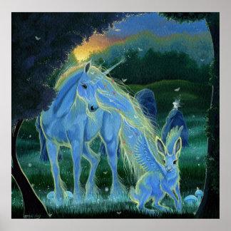 """Impresión de la lona del unicornio """"de la mañana b posters"""