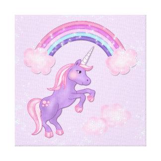 Impresión de la lona del unicornio impresión en lienzo estirada