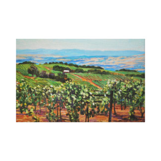Impresión de la lona del viñedo lona estirada galerías