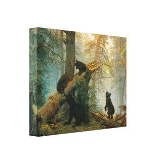 Impresión de la lona del vintage de Cubs de oso Iv Impresión En Lona Estirada