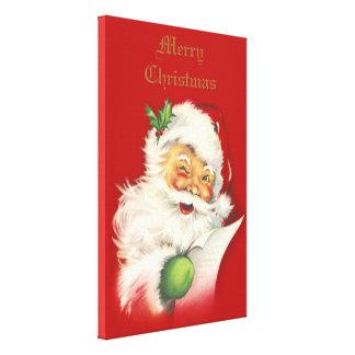 Impresión de la lona del vintage de Santa