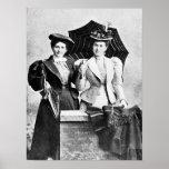 Impresión de la lona:  Dos mujeres del Victorian,  Poster