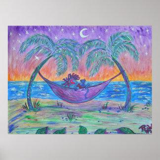 Impresión de la lona - Martini tropical Poster