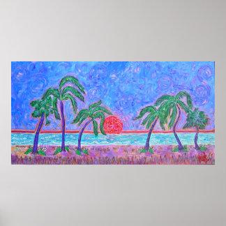 Impresión de la lona - momento tropical posters