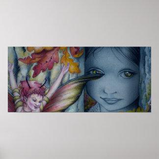 Impresión de la lona - ojos del canela impresiones