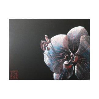 Impresión de la lona - orquídea y predicador impresión en lienzo estirada