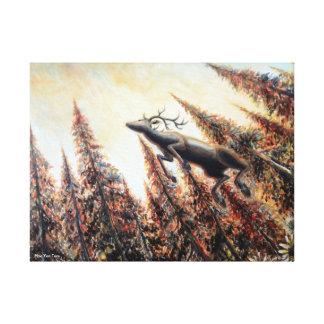 Impresión de la lona - salto de ciervos impresiones de lienzo