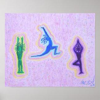 Impresión de la lona - viaje de la yoga póster