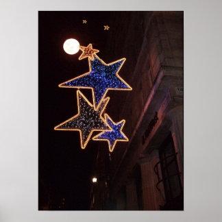 Impresión de la luna del navidad posters