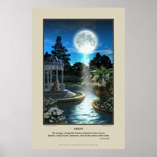 Impresión de la luna poster