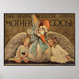 Impresión de la mamá ganso de Jessie Willcox Smith Póster