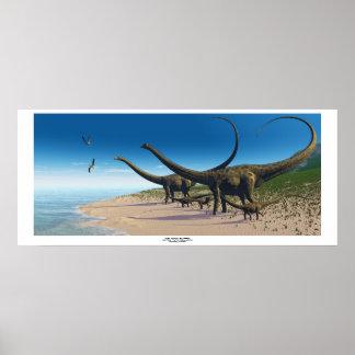 Impresión de la manada del Diplodocus Poster