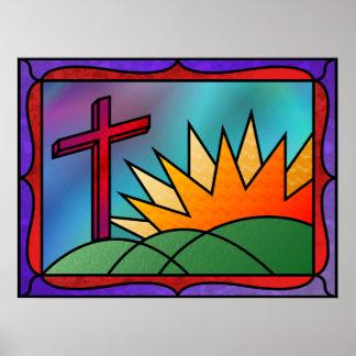 Impresión de la mañana de Pascua Póster
