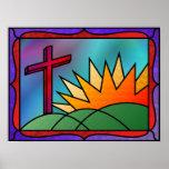 Impresión de la mañana de Pascua Posters