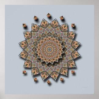Impresión de la mandala del arte de la cerámica de póster