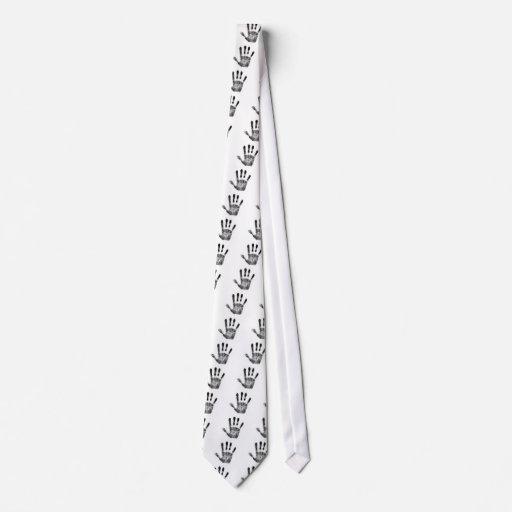 impresión de la mano corbata personalizada
