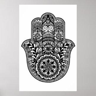 Impresión de la mano de Hamsa Póster