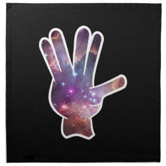 Impresión de la mano de la nebulosa servilletas de papel