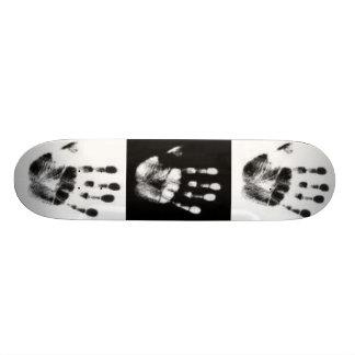 Impresión de la mano patines