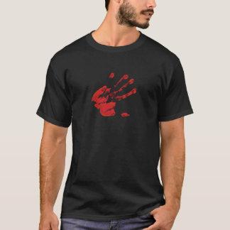 Impresión de la mano - rojo - 3 playera