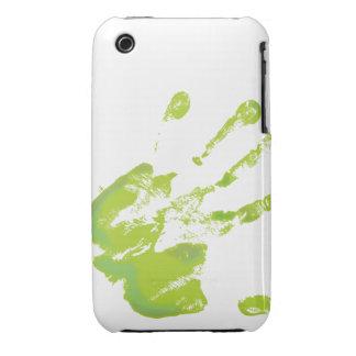 Impresión de la mano - verde - 2 Case-Mate iPhone 3 protector