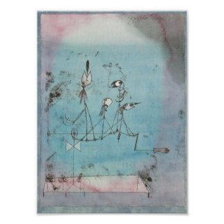 Impresión de la máquina de Paul Klee Twittering Fotos