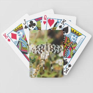 Impresión de la mariposa baraja de cartas bicycle
