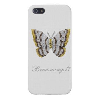 Impresión de la mariposa del diamante iPhone 5 funda